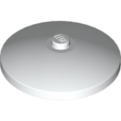 White Dish 4 x 4 Inverted (Radar) with Solid Stud - new