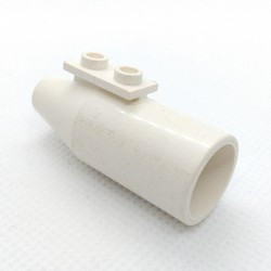 White Engine, Smooth Large, 1 x 2 Thin Top Plate