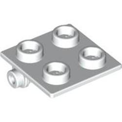 White Hinge Brick 2 x 2 Top Plate - new
