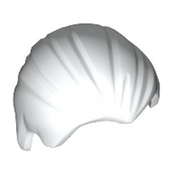 White Minifigure, Hair Combed Front to Rear
