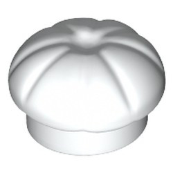 White Minifigure, Headgear Hat, Cook's (Toque) - used