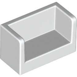 White Panel 1 x 2 x 1 with Rounded Corners and 2 Sides