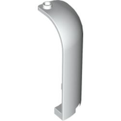 White Panel 3 x 3 x 6 Corner Convex with Curved Top