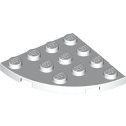 White Plate, Round Corner 4 x 4 - new