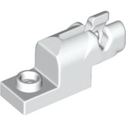 White Projectile Launcher, 1 x 2 Mini Blaster / Shooter