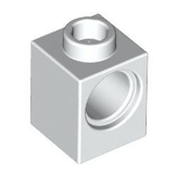 White Technic, Brick 1 x 1 with Hole