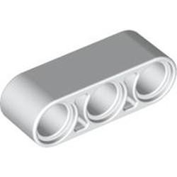 White Technic, Liftarm 1 x 3 Thick - new