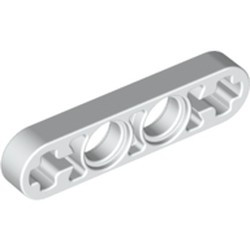 White Technic, Liftarm 1 x 4 Thin - used