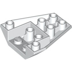 White Wedge 4 x 4 Triple Inverted with Connections between 4 Studs - new