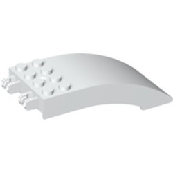 White Windscreen 8 x 4 x 2 Curved with Locking Dual 2 Fingers