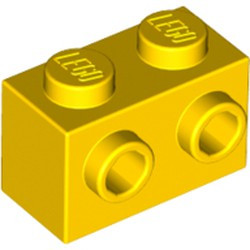 Yellow Brick, Modified 1 x 2 with Studs on 1 Side