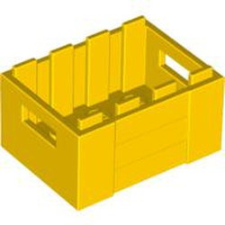 Yellow Container, Crate 3 x 4 x 1 2/3 with Handholds - used