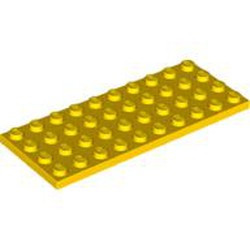 Yellow Plate 4 x 10 - used