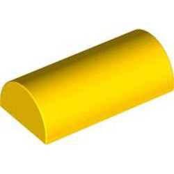 Yellow Slope, Curved 2 x 4 Double - used