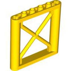 Yellow Support 1 x 6 x 5 Girder Rectangular - new