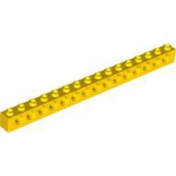 Yellow Technic, Brick 1 x 16 with Holes