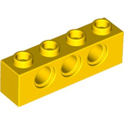 Yellow Technic, Brick 1 x 4 with Holes - used
