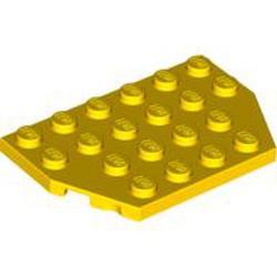 Yellow Wedge, Plate 4 x 6 Cut Corners