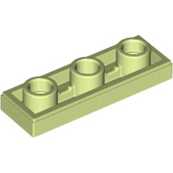 Yellowish Green Tile, Modified 1 x 3 Inverted with Hole