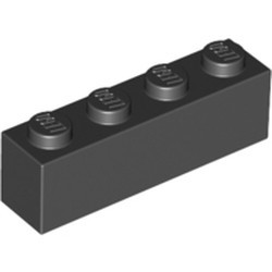 Black Brick 1 x 4 - new