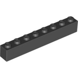 Black Brick 1 x 8