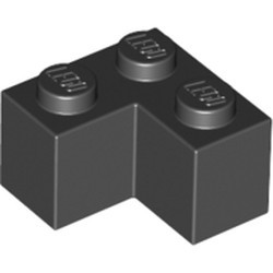 Black Brick 2 x 2 Corner - new