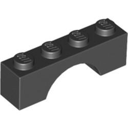 Black Brick, Arch 1 x 4 - new