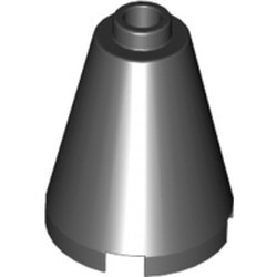 Black Cone 2 x 2 x 2 - Open Stud