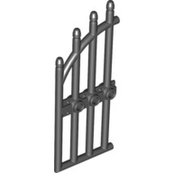 Black Door 1 x 4 x 9 Arched Gate with Bars and Three Studs