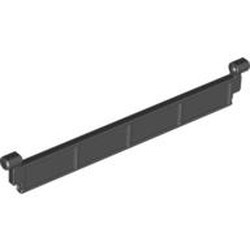 Black Garage Roller Door Section without Handle - used