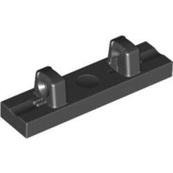 Black Hinge Tile 1 x 4 Locking Dual 1 Fingers on Top
