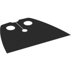 Black Minifigure Cape Cloth, Very Short - Traditional Starched Fabric