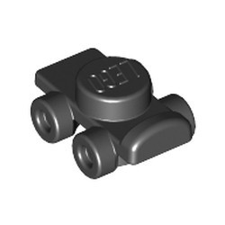 Black Minifigure, Footgear Roller Skate - new