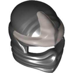 Black Minifigure, Headgear Ninjago Wrap with Silver 3 Point Emblem Pattern