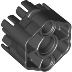 Black Projectile Launcher Part, Rapid Shooter Six Barrel