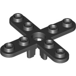 Black Propeller 4 Blade 5 Diameter with Rounded Ends and Open Hub