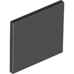 Black Road Sign 2 x 2 Square with Open O Clip