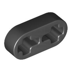 Black Technic, Liftarm Thin 1 x 2 - Axle Holes