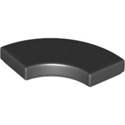 Black Tile, Round Corner 2 x 2 Macaroni - new