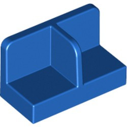 Blue Panel 1 x 2 x 1 with Rounded Corners and Center Divider