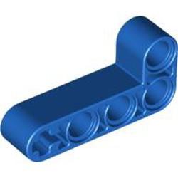 Blue Technic, Liftarm 2 x 4 L-Shape Thick - used