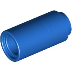 Blue Technic, Pin Connector Round 2L without Slot (Pin Joiner Round) - used