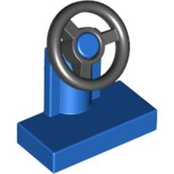 Blue Vehicle, Steering Stand 1 x 2 with Black Steering Wheel
