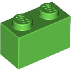 Bright Green Brick 1 x 2 - used