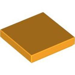 Bright Light Orange Tile 2 x 2 with Groove