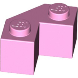 Bright Pink Brick, Modified Facet 2 x 2