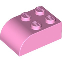 Bright Pink Slope, Curved 3 x 2 x 1 with Four Studs - new