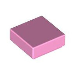Bright Pink Tile 1 x 1 with Groove (3070) - used