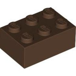 Brown Brick 2 x 3