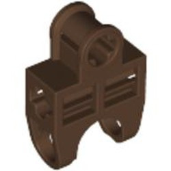 Brown Technic, Axle Connector 2 x 3 with Ball Joint Socket, Open Sides